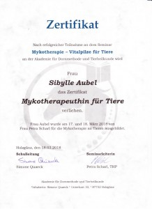 Mykotherapeutin fuer Tiere