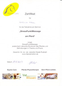 Fortbildung Stresspunktmassage – Jeanette H.R